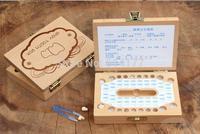Free shipping Retail 1pc handmade wooden Baby Tooth Case Album,baby Birthday Gift,Children's teeth preservation box Lanugo-box