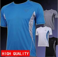 wholesale man spring 2014 good quality men Quick Dry Casual T-Shirts Shirt Slim Fit Sport plus-size M-XXL free shipping LSL011
