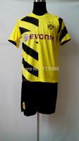 2014/15 Dortmund home yellow soccer jersey+short kit,top quality 14-15 BVB Dortmund home yellow soccer jersey football jerseys