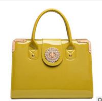 Free shipping 2014 European and American hot explosion models patent leather handbag lady handbag shoulder bag Messenger