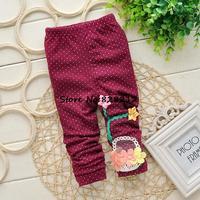 Latest Flower Basket Children Girl PANTS Fashion Girl Spring Autmn Leggings Kids Girl Trousers 1pcs Free shipping DDK-1409