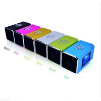 Portable TT6 Mini Multimedia Speaker LCD USB Disk MP3 Player FM Radio USB TF&SD Slot coloful