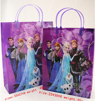 12 pieces Frozen Party decoration supplies Favor Bags Anna Elsa Olaf Goodie Candy frozen Loot Gifts bags