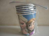 Frozen movie happy birthday party accessories kits Anna Elsa princess frozen party tableware paper drink cups supplies