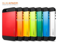Free Shipping!!New 2014 SLIM ARMOR SPIGEN SGP case for iPhone 5 5S without retail packaging