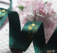 005 customized wedding  ribbon logo/name printed 1.5cm 100 yards/lot wholesale