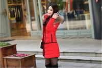 2014 winter large fur collar slim medium-long women's thickening down coat outerwear female