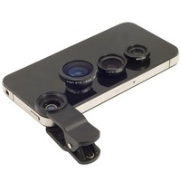 Universal 3in1 Clip-On Fish Eye Lens Wide Angle Macro Lens For iPhone 4 5 Samsung Galaxy S3 Note 2 N7100 S4 i9500 Free Shipping
