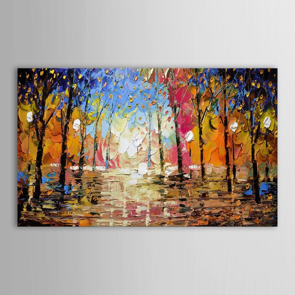 hand gemalt kunst setzen moderne schwere textur Landschaft Wald abstrakte leinwand Ölgemälde für wohnzimmer schlafzimmer dekor