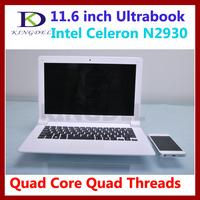 """Notebook laptop computer 11.6 """" 4GB RAM 128GB NNGF SSD Intel Celeron Quad thread quad thread 1.83 Ghz bluetooth wifi USB 3.0"""