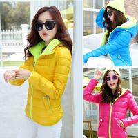 Plus size L,XL,XXL 2014 new winter women's coat high quality down jacket warm down parka coats hooded 867