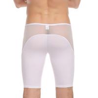 Male panties low-waist capris viscose shorts sexy gauze breathable panties translucent knee-length pants home pajama pants