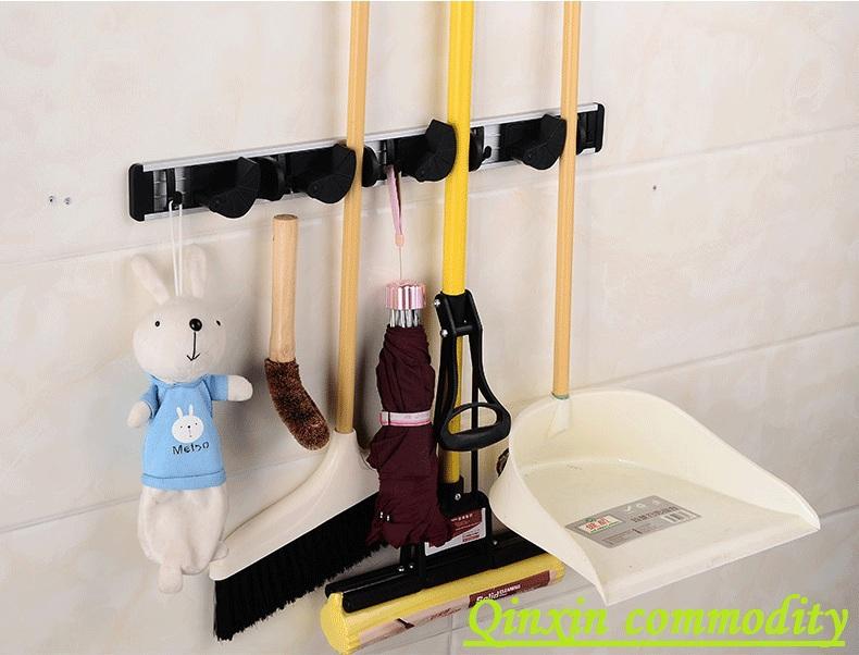 Salle de bains 4 position mop balai de nettoyage des outils maison umbrella support cintre mural. crochets. Étagères racks. livraison gratuite