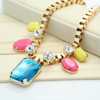 Fluorescent colors jewelry fashion necklace short paragraph clavicle necklace