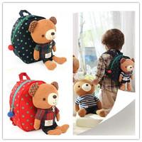 Free shipping!hot!1-4 years old children backpack Bear Cartoon cute baby nursery school bags anti-lost backpack shoulders K070