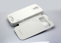Free shipping ! 3200mAh External Backup Battery Charger Case For Samsung Galaxy S4  I9500+Flip leathe Cover Emergency Power Bank