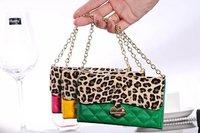 New Sexy Leopard women Handbag purse Case for Samsung Galaxy S4 SIV i9500 Free Shipping 1pcs