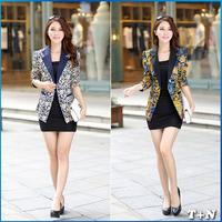 2014 NEW blazer women brand chaquetas mujer  plus size outwear