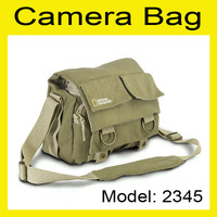 Khaki Canvas National Geographic NG 2345 DSLR Camera Shoulder Bag for Nikon Canon Sony Olympus Pentax Fuji Camera waterproof