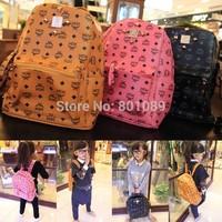 2014 New Fashion Schoolbag PU Leather backpack Rivet Special letter Shoulder Bag for children mini size