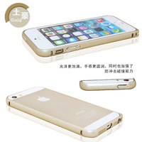 Free shipping ! The new circular metal frame for iPhone5 5s phone shell mobile phone sets Tyrant gold shell 5S