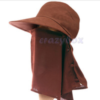 Fashion Outdoor Summer UV Neck Protection Wide Brim Visor Sun Hats Sunbonnet Cap for Hiking Camping Hiking Fishing With Veil