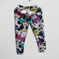 [retail]autumn winter new arrival baby girls fashion minnie fleece pants kids warm leggings 1523