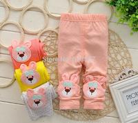 New 2014 Autumn Fashion All-Match Children Cartoon Casual Basic Long Trousers, Baby Girls Leggings, Infant Skinny Pants  F10