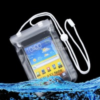 Free shipping ! Mobile Phone Waterproof Dry Bag Case Transparent With Scrub Wholesale