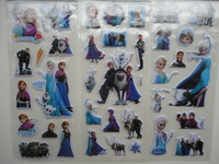 12 PCS Frozen movie kid happy birthday Party favors Bag Fillers Anna elsa Olaf sven temporary Stickers