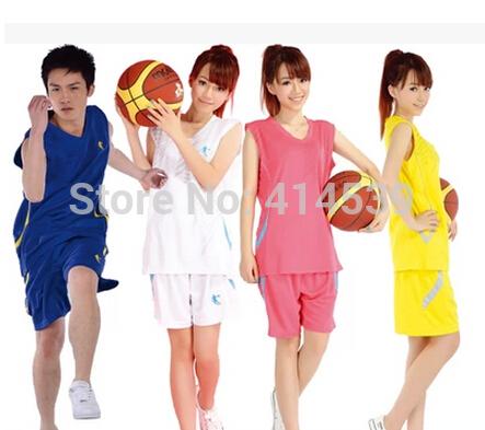 New Basketball Jerseys Double Sweat Big Yards Sportswear Jerseys Suit(jacket+shorts)Group Purchase Custom Printed Women T1169(China (Mainland))