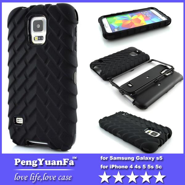 Tire padrão plástico + Silicone 3 em 1 caso híbrido Combo para Samsung Galaxy i9600 S5(China (Mainland))