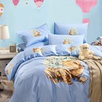 5-pieces 3d queen king size comforter set/quilt/duvet set bed in a bag cute bedding bear duvet cover boy comforter