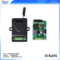 DC9V to 16V  1 learning code wireless transmitter and receiver YET401PC+YET001