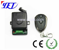 DC12V\24V 1 channel learning code wireless transmitter and receiver YET401PC+YET001