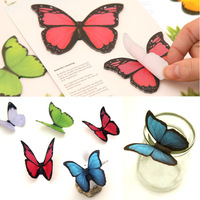Creative N times posted colorful sticky paper butterfly decorative stickers affixed Message