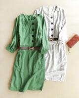 Formal three quarter sleeve anti-wrinkle linen one-piece dress fashion women's