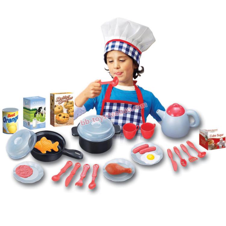 Brinquedo do bebê combinação definir Artificial criança utensílios de cozinha Cooktops garrafa de água de frigideira fogão lento alimentos(China (Mainland))