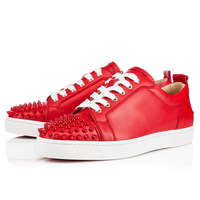 2014 New arrival brand men red bottom shoes men and women casual rivets shoes2 colors  men sneakers men top quality shoes