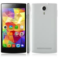 China Brand JIAKE V6 Unlocked Smart Cell Phone MTK6582 Quad Core 1GB RAM 8GB ROM Single SIM Card GSM WCDMA 5.5inch Screen White