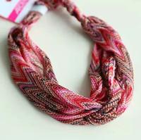 Gypsy Mix Style ARDENE Knot Stretch Wide Hairwrap Headwrap for Women