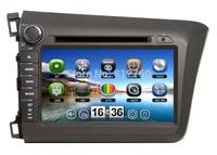 "8""Car DVD Navigation for Honda CIVIC 2012 Audio Video,GPS ,Bluetooth,TV,Radio,V-CDC,3G USB host,Free GPS map, Free shipping"