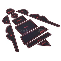 11pcs/lot Non- slip Interior door pad/cup mat door gate slot mat for Toyota RAV4 2014 rubber car-cup mat Dash Mat