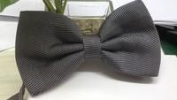 2014  Fashion High Quality Black  Polyster Bow tie