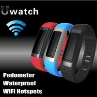 10pcs/lot 2014 New U9 Bluetooth Waterproof Smart Watch Bracelet Wifi Handsfree Wristwatches for  iPhone Samsung Multi Language