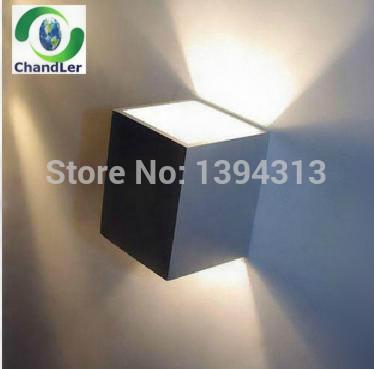 Livraison gratuite a mené la lumière mur 10pcs/lot haut et bas côté/3w conduit lampe de mur 300 lumens, 2 année, ce garantie& rohs