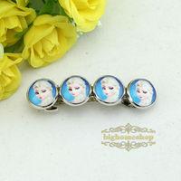 Free shipping 24pcs/lot Frozen princess Elsa Hairpin ,Brave fealess Girl's Hairpin, Sister hairpin
