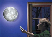 relaxing healing moon light ,indoor LED wall moon lamp with remote control novel lamp retailsale(China (Mainland))