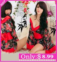 Novelty Seductive Sexy Halloween Costume Japanese Kimono Cosplay Geisha Lingerie Fancy dress
