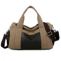 2014 fashion casual men canvas shoulder messenger bag big travel bags